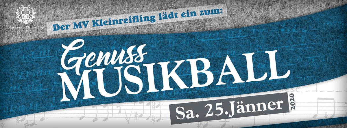 Der MV Kleinreifling lädt ein zum Genuss-Musikball, Samstag, 25. Jänner 2020